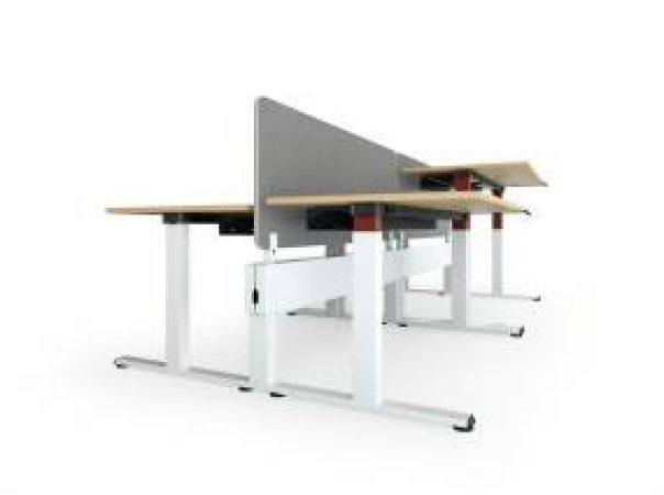 Steelcase Migration SE Bench mit Sichtschutz